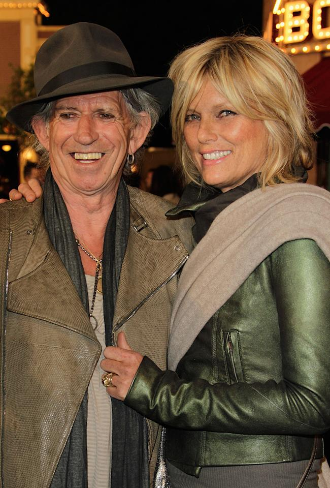 "<a href=""http://movies.yahoo.com/movie/contributor/1800047666"">Keith Richards</a> and Patti Hansen attend the Disneyland premiere of <a href=""http://movies.yahoo.com/movie/1809791042/info"">Pirates of the Caribbean: On Stranger Tides</a> on May 7, 2011."