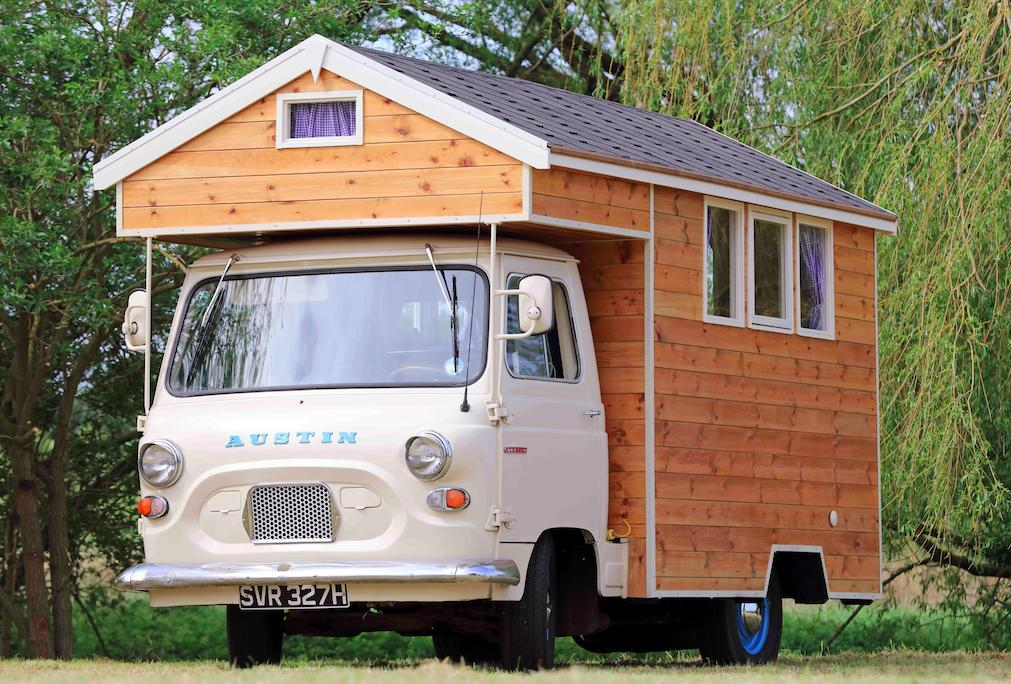 The compact Austin Camber Shed is owned by Stephen Alleyne in Norfolk, and is built on a classic Austin J4 pickup truck. (Pic: Supplied)