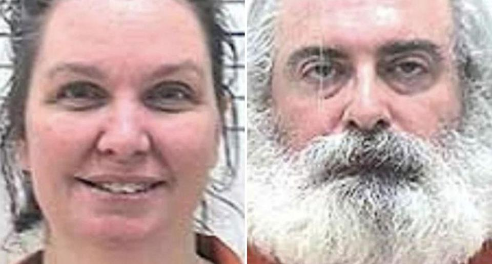 Henry Clarence Lilly III and Bonnie Beth Mills-Lilly, from Oklahoma, have each been charged with first-degree manslaughter after their three-year-old girl died from a brain tumour. Source: Comanche County Sheriff's Office