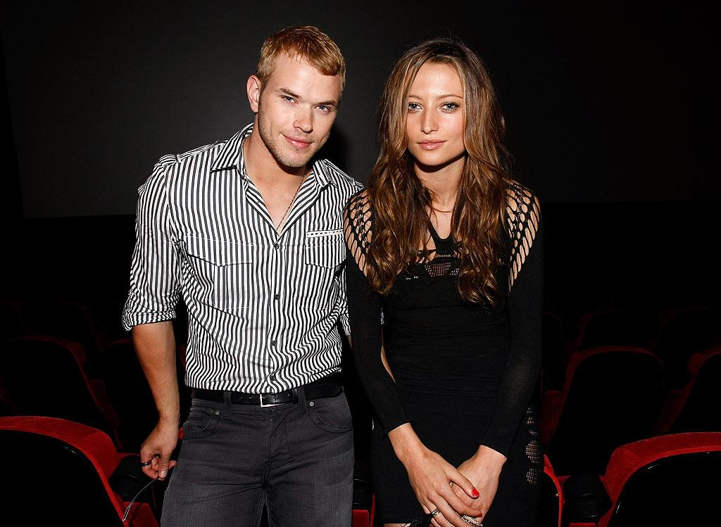 "Two of ""New Moon's"" hottest cast members -- Kellan Lutz (Emmett Cullen) and Noot Seear (Heidi) -- posed for a cute picture prior to the insanity. Are you Team Emmett, Team Edward, or Team Jacob? Michael Buckner/<a href=""http://www.gettyimages.com/"" target=""new"">GettyImages.com</a> - July 23, 2009"