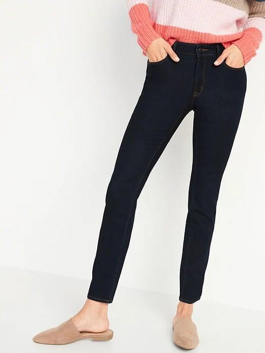 <p>These <span>Old Navy Mid-Rise Pop Icon Skinny Dark-Wash Jeans</span> ($35) are total classics but there's no need to just take our word for it as they have more than 4,400 5-star reviews from other shoppers, too.</p>