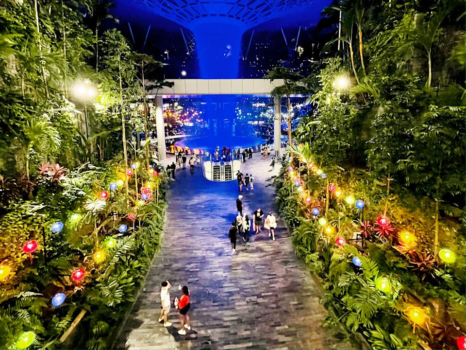 People seen at the Jewel Changi Airport mall on 4 September 2021. (PHOTO: Dhany Osman / Yahoo News Singapore)