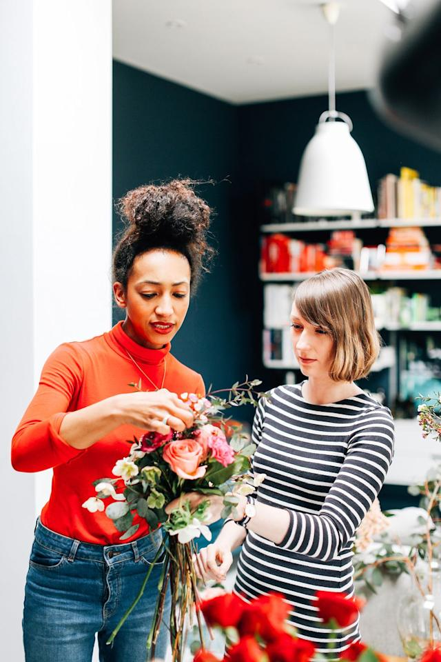 """<p>If you can't stop scrolling through pics of flower arrangements on Instagram, learn to make your own at home. Thanks to companies like <a rel=""""nofollow"""" href=""""https://alicestable.com/"""">Alice's Table</a>, you and your friends can take a class or become event execs where you <em>are</em> the teacher and plan community events yourself. </p><p><a rel=""""nofollow"""" href=""""https://alicestable.com/events"""">LEARN MORE</a></p><p><strong>RELATED:</strong> <a rel=""""nofollow"""" href=""""https://www.womansday.com/life/g20709797/best-friend-quotes/"""">Best Friend Quotes Every Woman Needs to Share With Her Gal Pals</a></p>"""