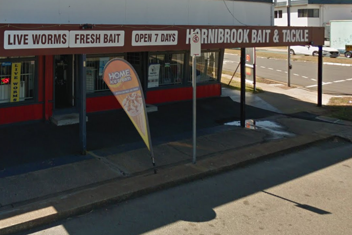 A Google map picture of the Hornibrook Bait and Tackle store where the sign was erected. Source: Google Maps