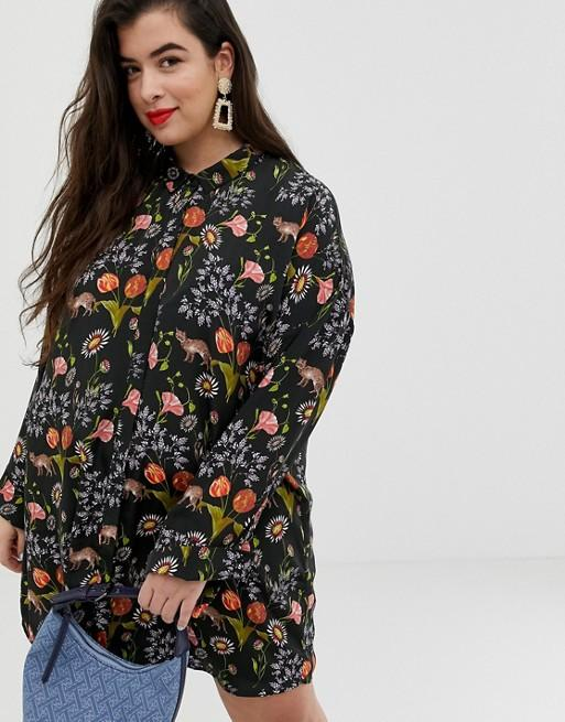 """<p><strong>Neon Rose</strong></p><p>us.asos.com</p><p><strong>$51.00</strong></p><p><a href=""""https://go.redirectingat.com?id=74968X1596630&url=https%3A%2F%2Fus.asos.com%2Fneon-rose-plus%2Fneon-rose-plus-relaxed-shirt-dress-in-botanical-animal-print%2Fprd%2F11245256&sref=http%3A%2F%2Fwww.cosmopolitan.com%2Fstyle-beauty%2Ffashion%2Fg28334617%2Ffall-work-outfits%2F"""" target=""""_blank"""">Shop Now</a></p><p>Yes, you can totally wear florals during fall—especially if they have gorgeous hues of olive green and burnt orange like the ones in this botanical shirtdress. Complete your look with <a href=""""https://shop.nordstrom.com/s/kate-spade-new-york-statement-earrings/5276020"""" target=""""_blank"""">statement earrings </a>and a <a href=""""https://shop.nordstrom.com/s/strathberry-nano-bicolor-leather-tote/5142405?"""" target=""""_blank"""">top-handle</a> for a killer office look.</p>"""