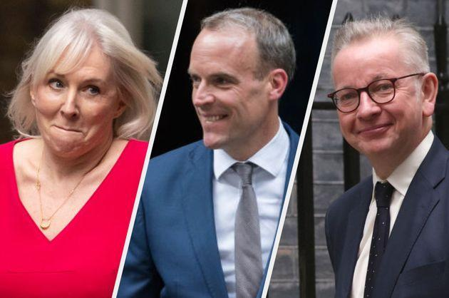 Nadine Dorries, Dominic Raab and Michael Gove were all given new roles in the cabinet on Wednesday (Photo: Getty)
