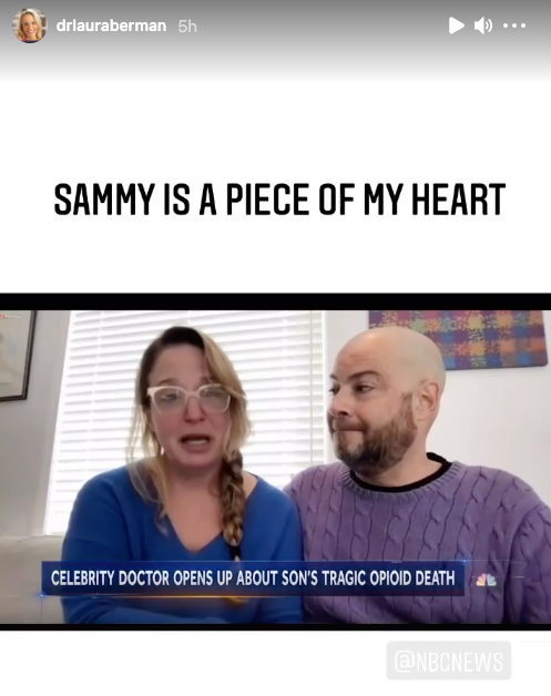 Dr Berman and her husband made a teary appearance on NBC News after their son's tragic passing. Photo: NBC News.