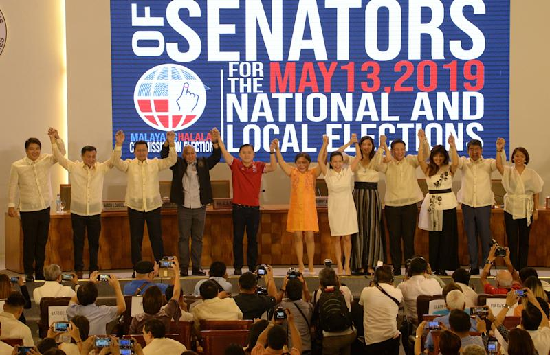 Allies of President Rodrigo Duterte stormed to a landslide victory in midterm polls, final results showed May 22, 2019. (Photo: TED ALJIBE/AFP via Getty Images)