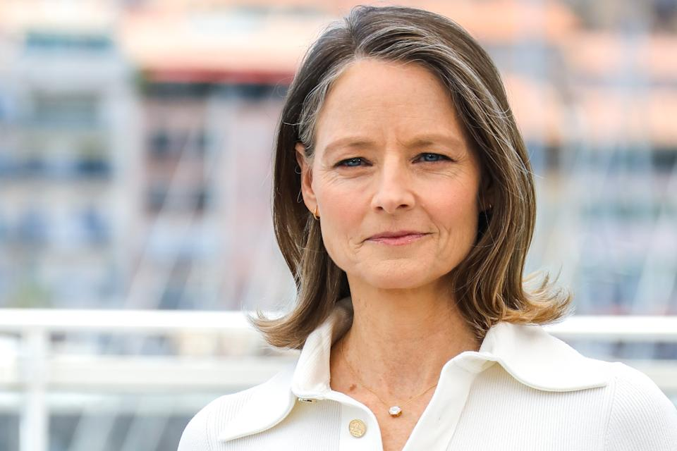 CANNES, FRANCE - JULY 06: Jodie Foster attends photocall for the Rendez-vous with Jodie Foster event during the 74th annual Cannes Film Festival on July 06, 2021 in Cannes, France. (Photo by Toni Anne Barson/FilmMagic)