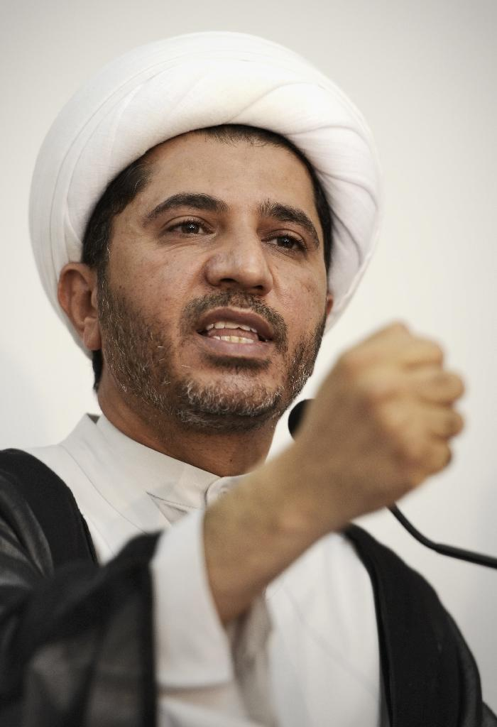 Bahrain's Al-Wefaq opposition group leader Sheikh Ali Salman was convicted on charges of inciting violence (AFP Photo/Mohammed Al-Shaikh)