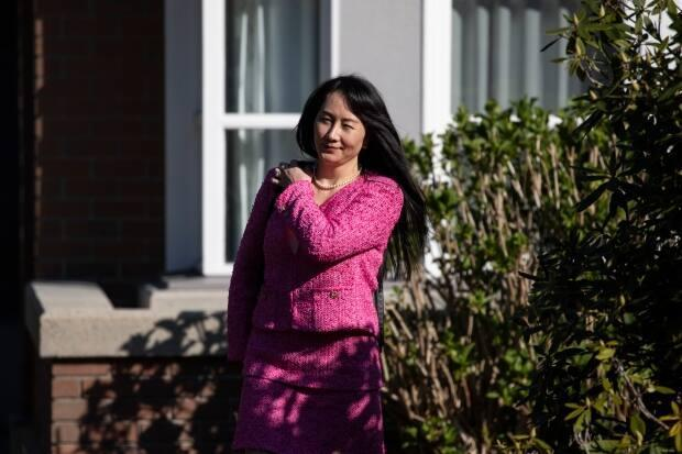 Huawei chief financial officer Meng Wanzhou leaves home for a B.C. Supreme Court hearing this week. Her lawyers requested a delay in extradition proceedings. (Ben Nelms/CBC - image credit)
