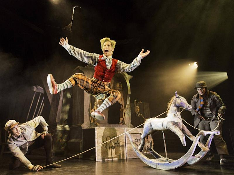 Will Kemp, Cris Penfold and Clemmie Sveaas in 'The Wind In The Willows' at London's Duchess Theatre (Johan Persson)