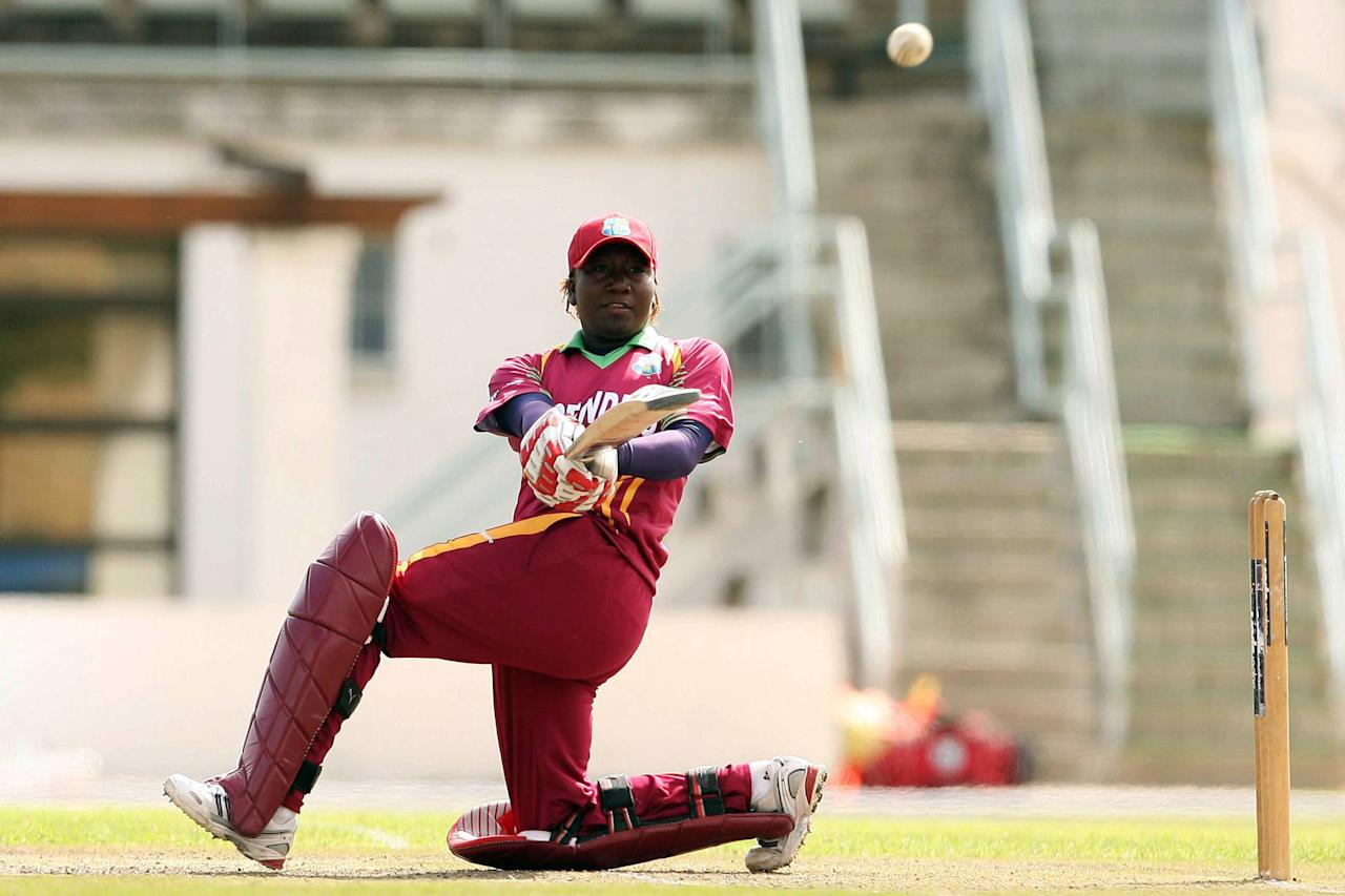 PAARL, SOUTH AFRICA - OCTOBER 16:  Stafanie Taylor from West Indies during the first one day international womens cricket match between South Africa and West Indies on 16 October 2009 at Boland Park in Paarl, South Africa. (Photo by Carl Fourie/Gallo Images/Getty Images)