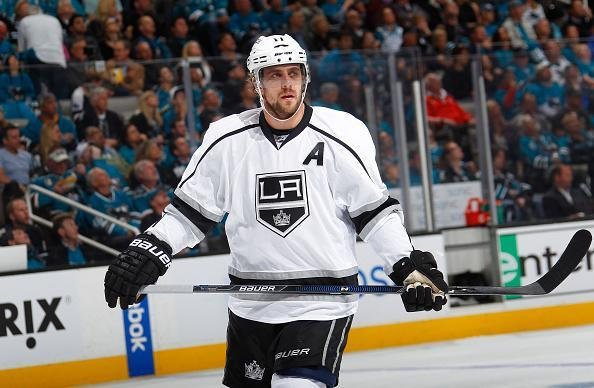 SAN JOSE, CA - APRIL 18: Anze Kopitar #11 of the Los Angeles Kings skates against the San Jose Sharks in Game Three of the Western Conference First Round during the 2016 NHL Stanley Cup Playoffs at SAP Center on April 18, 2016 in San Jose, California. (Photo by Rocky W. Widner/NHL/Getty Images)