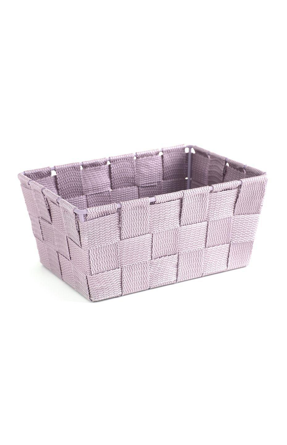 <p>Woven basket in pink, price unknown </p>