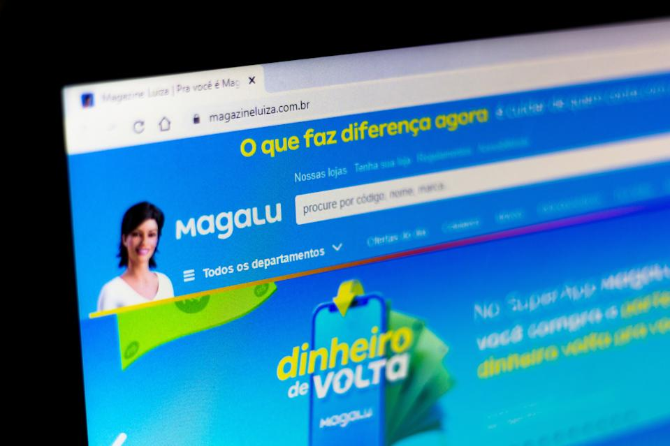 BRAZIL - 2020/07/25: In this photo illustration the official Magazine Luiza (Magalu) website is shown on a computer screen. (Photo Illustration by Rafael Henrique/SOPA Images/LightRocket via Getty Images)