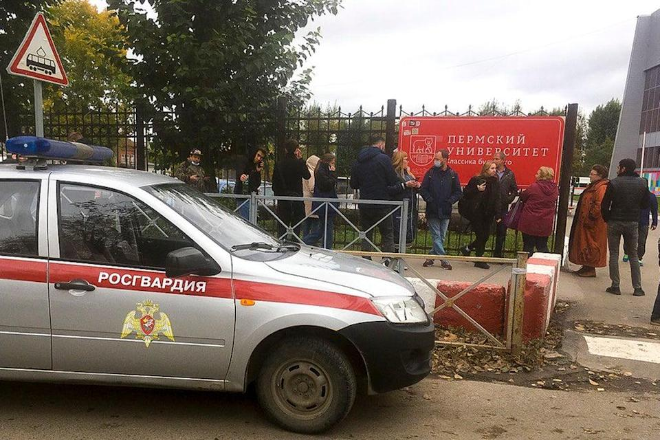 Russia University Shooting (Copyright 2021 The Associated Press. All rights reserved)
