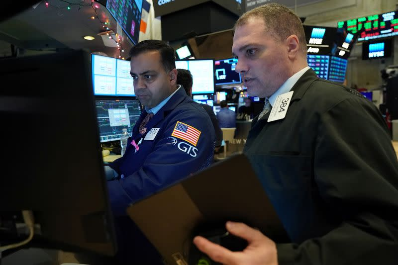 Stocks scale records, oil dips, as investors hail easing of Mideast tensions