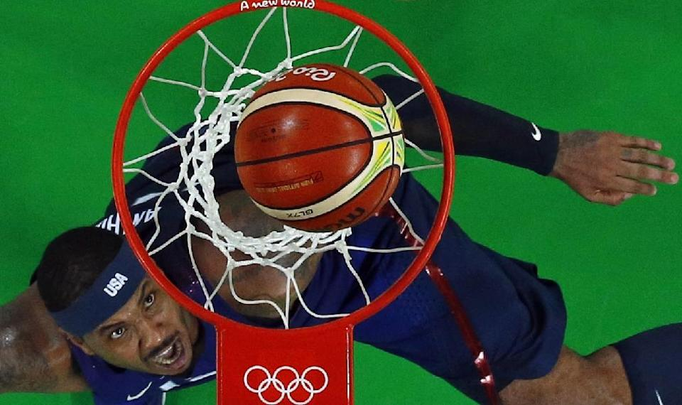 Carmelo Anthony can became the first man to win hoops gold in three Olympics (AFP Photo/Jim Young)
