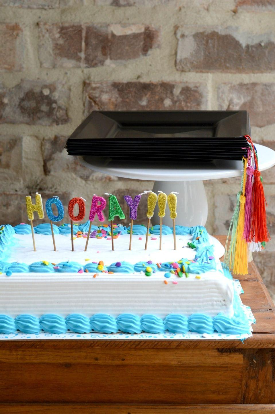 "<p>How's this for a why-didn't-I-think-of-that detail to add to the graduation party? Black paper plates with tassels! They look just like graduation caps. </p><p><strong>Get the tutorial at <a href=""https://www.goodinthesimple.com/diy-graduation-party-plates-with-tassels/"" rel=""nofollow noopener"" target=""_blank"" data-ylk=""slk:Good in the Simple"" class=""link rapid-noclick-resp"">Good in the Simple</a>.</strong></p><p><a class=""link rapid-noclick-resp"" href=""https://go.redirectingat.com?id=74968X1596630&url=https%3A%2F%2Fwww.walmart.com%2Fip%2FSchool-Smart-1-Hole-Paper-Punch-1-4-in-10-Sheets-Nickel-Plated%2F194544550&sref=https%3A%2F%2Fwww.thepioneerwoman.com%2Fhome-lifestyle%2Fentertaining%2Fg36014713%2Fgraduation-party-ideas%2F"" rel=""nofollow noopener"" target=""_blank"" data-ylk=""slk:SHOP HOLE PUNCHES"">SHOP HOLE PUNCHES</a></p>"