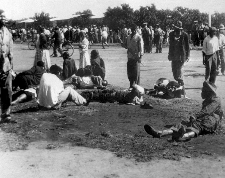 Day of blood: Sixty-nine people were killed and scores were wounded in the Sharpeville Massacre, a turning point in the history of apartheid (AFP Photo/STR)