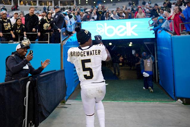 He may play for the Panthers next season, but Teddy Bridgewater will always have love for the Saints. (Photo by Jacob Kupferman/Getty Images)