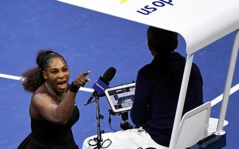 <span>Serena accused Carlos Ramos of being a 'liar' and a 'thief'</span> <span>Credit: USA Today </span>