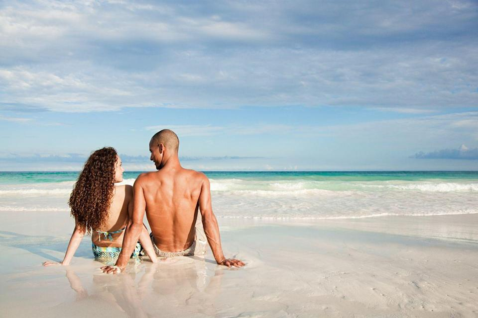 """<p>Sure, the sand gets everywhere, but it just wouldn't be summer without at least one trip to the beach. Bring some cold beverages, a good book and a couple of towels and you and your honey are set for the day.</p><p><a class=""""link rapid-noclick-resp"""" href=""""https://www.amazon.com/Coleman-Performance-Cooler-48-Quart-Blue/dp/B0000DH4LT/ref=sr_1_4?tag=syn-yahoo-20&ascsubtag=%5Bartid%7C10050.g.35949770%5Bsrc%7Cyahoo-us"""" rel=""""nofollow noopener"""" target=""""_blank"""" data-ylk=""""slk:SHOP COOLERS"""">SHOP COOLERS</a></p>"""