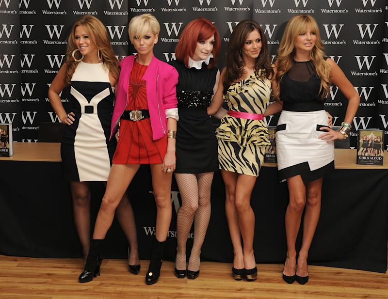 (From left to right) Kimberley Walsh, Sarah Harding, Nicola Roberts, Cheryl Cole and Nadine Coyle at the 'Girls Aloud: Dreams that Glitter - Our Story' autobiography launch, at Waterstone's, Piccadilly, central London.