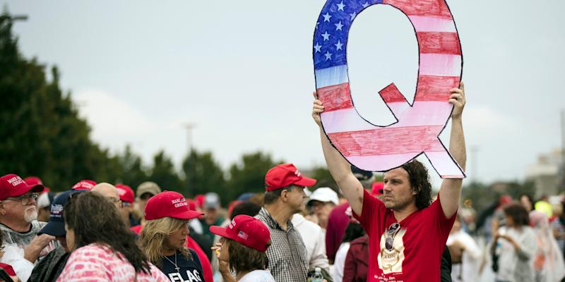 yahoo.com - tporter@businessinsider.com (Tom Porter) - The Trump campaign relies on a huge network of QAnon accounts to spread conspiracy theories and disinformation, data shows