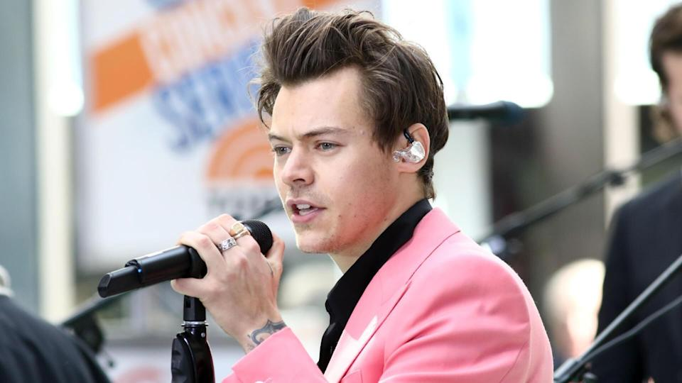 """NEW YORK - May 9, 2017: Harry Styles performs on the NBC """"Today"""" show concert series on May 9, 2017, in New York City."""