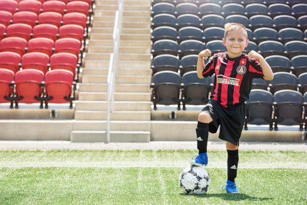 PHOTO: Andrew has acute lymphoblastic leukemia and wants to be a soccer player when he grows up. (Ashley Berrie Photography)
