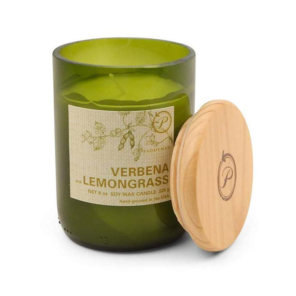 """<p><strong>Paddywax Candles</strong></p><p>amazon.com</p><p><strong>$15.00</strong></p><p><a href=""""http://www.amazon.com/dp/B004MS8ANU/?tag=syn-yahoo-20&ascsubtag=%5Bartid%7C10055.g.225%5Bsrc%7Cyahoo-us"""" target=""""_blank"""">Shop Now</a></p><p>To give her living room a spa-like serenity, gift her this soy candle, which has hints of lime juice, fresh eucalyptus, and leafy greens.</p>"""