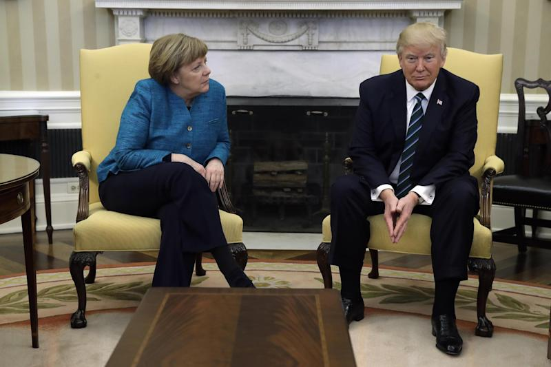 Donald Trump is hosting Angela Merkel at the White House: AP