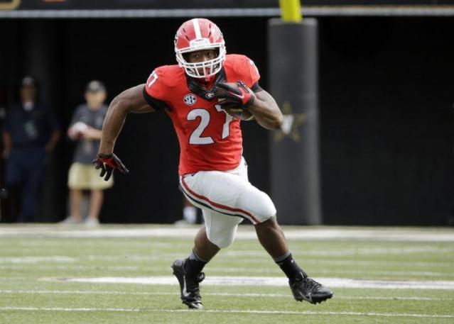 RB Nick Chubb is back for his senior season at Georgia. (AP)
