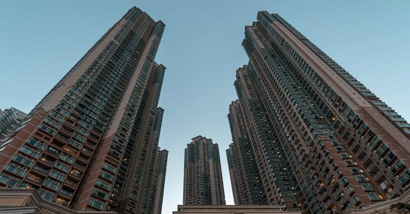 Residential buildings stand at the Metro Town development, jointly developed by CK Asset Property Holdings Ltd., Nan Fung International Holding Ltd. and MTR Corp., in Hong Kong, China, on Thursday, Jan. 11, 2018.