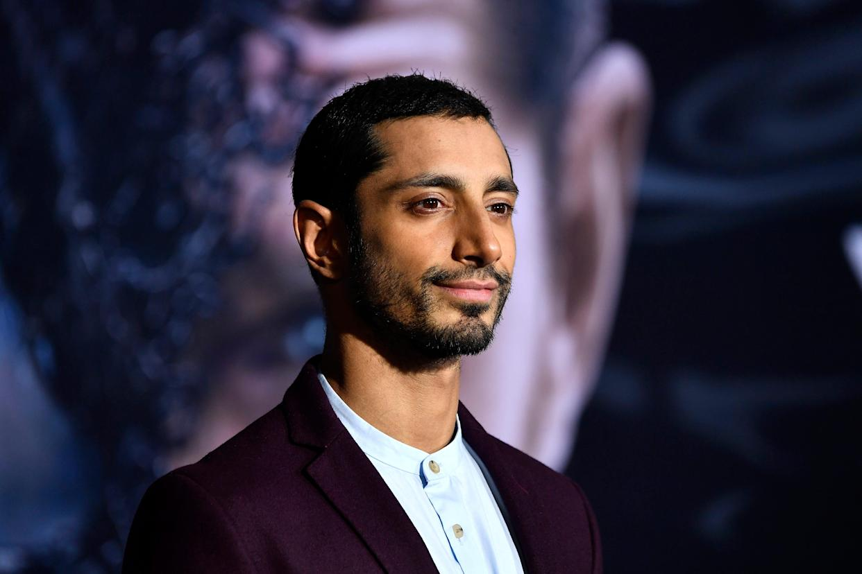 """WESTWOOD, CA - OCTOBER 01: Riz Ahmed attends the Premiere Of Columbia Pictures' """"Venom"""" at Regency Village Theatre on October 1, 2018 in Westwood, California."""