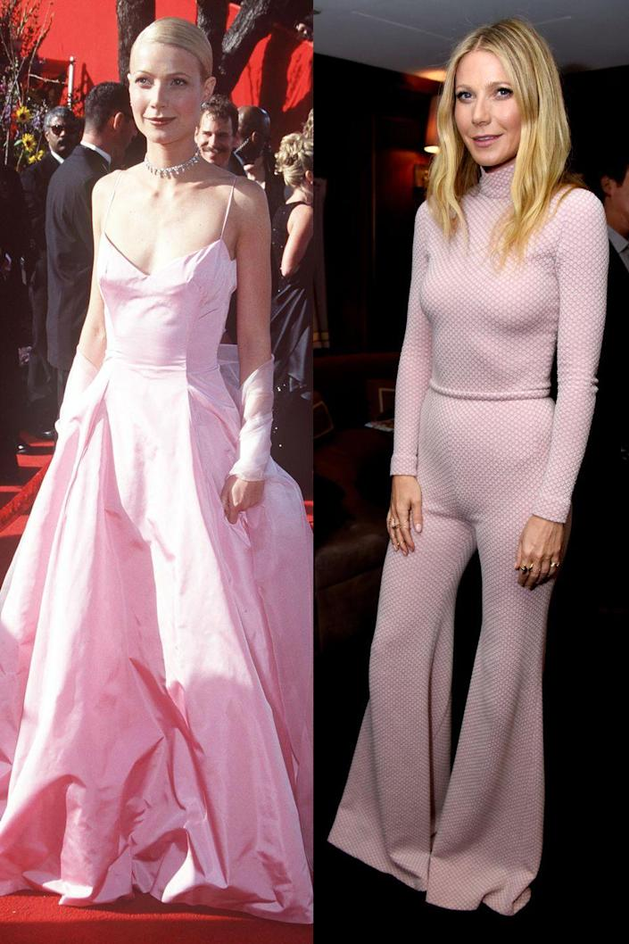 <p>Pretty in aesthetically-pleasing, iconic Oscar dress pink. </p>