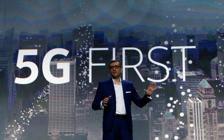 Rajeev Suri, Nokia's President and Chief Executive Officer, speaks during the Mobile World Congress in Barcelona, Spain, February 26, 2017. REUTERS/Albert Gea
