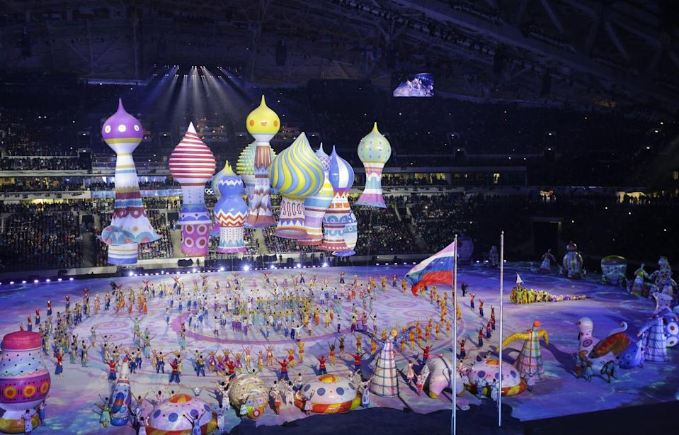 <p>Russia paid homage to its heritage with a colorful display during the opening ceremony of the Winter Olympics in Sochi. </p>