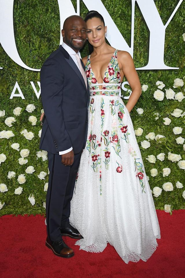 <p>The actor walked the red carpet with his love, model Amanza Smith Brown. (Photo: Getty Images) </p>