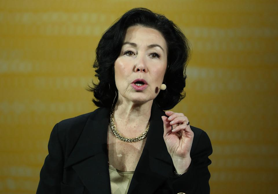 SAN FRANCISCO, CALIFORNIA - SEPTEMBER 17: Oracle CEO Safra Catz delivers a keynote address during the 2019 Oracle OpenWorld on September 17, 2019 in San Francisco, California. Oracle CEO Safra Catz kicked off day two of the 2019 Oracle OpenWorld with a keynote address. The annual convention runs through September 19.  (Photo by Justin Sullivan/Getty Images)