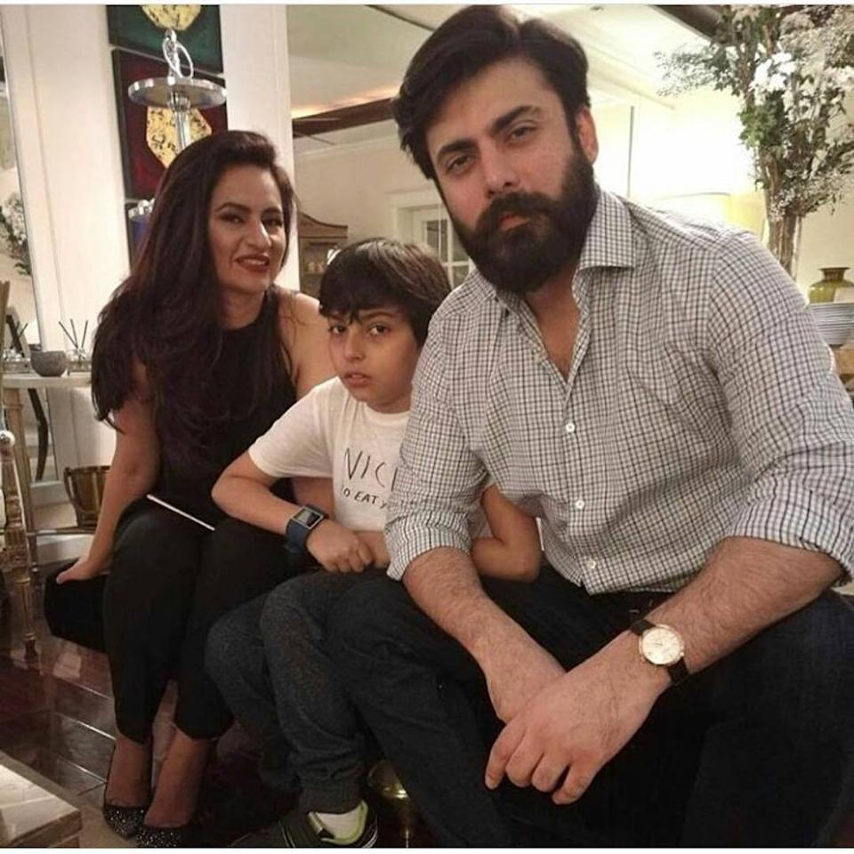 Photos: Fawad Khan and wife Sadaf make a stylish entry at an event in Pakistan