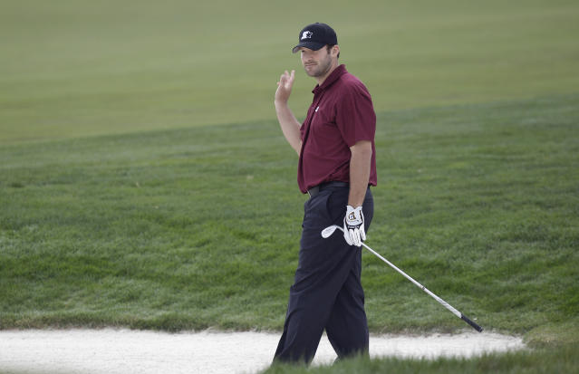 Tony Romo will get a shot to show off his golf skills during a PGA Tour event. (AP Photo)