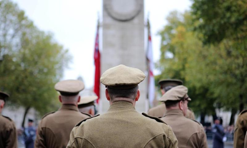 The annual service of remembrance at the Cenotaph, Whitehall, London on 11 November 2017