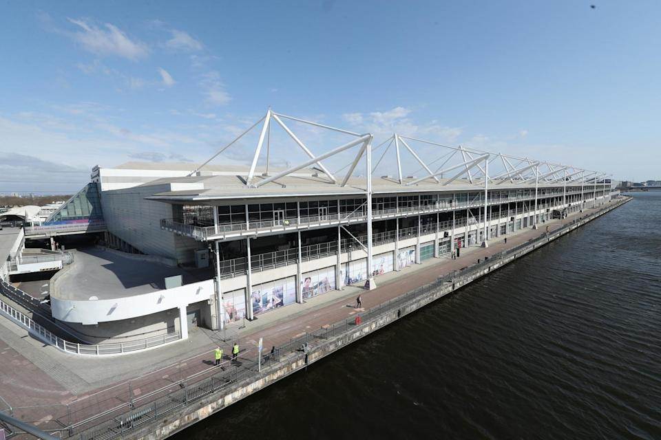 The site at London's ExCel centre is usually a huge conference venue (PA)
