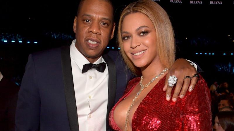 Beyoncé Glitters in Red at JAY-Z's Mom's Birthday Party