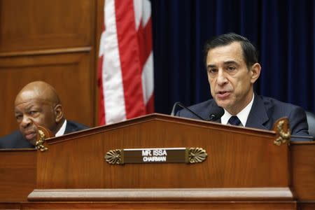 Issa holds a House Oversight and Government Reform Committee hearing about e-mails belonging to Lerner, on Capitol Hill in Washington