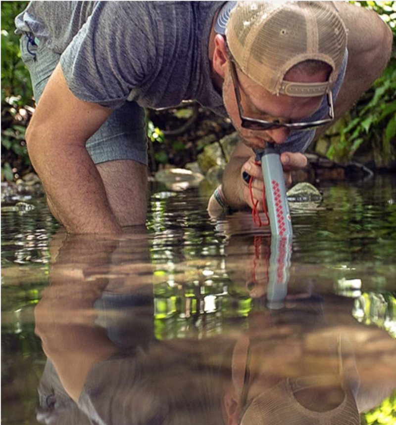 The LifeStraw lets you sip straight from a stream or other body of water. (Photo: LifeStraw)