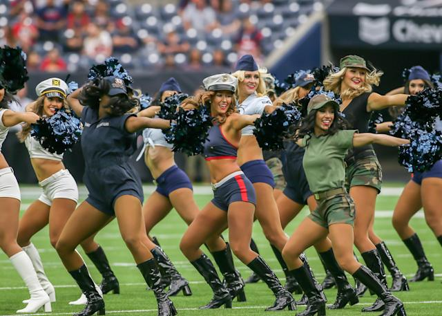 <p>Houston Texans cheerleaders entertain fans during the football game between the Indianapolis Colts and Houston Texans at NRG Stadium on November 5, 2017 in Houston, Texas. (Photo by Leslie Plaza Johnson/Icon Sportswire via Getty Images) </p>
